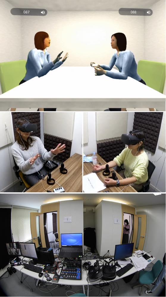 VRの研究の模様